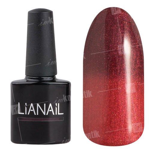 Lianail, Гель-лак эффект термо с блеском - Восхищение GTSO-07 (10 мл.)Lianail<br>Гель-лак эффект термо, отбордового к светлому красно-коричневому оттенкус перламутром<br>