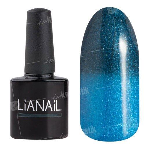 Lianail, Гель-лак эффект термо с блеском - Надежда GTSO-09 (10 мл.)Lianail<br>Гель-лак эффект термо, отсеро-синего оттенкак ярко голубому тону, перламутровый, плотный<br>