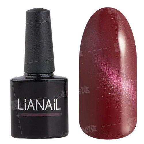 Lianail, Гель-лак эффект кошачий глаз - Быстрый гепард CESO-002 (10 мл.)Lianail<br>Гель-лаккошачий глаз, бордово-розовыйс металлическим отливом, плотный<br>