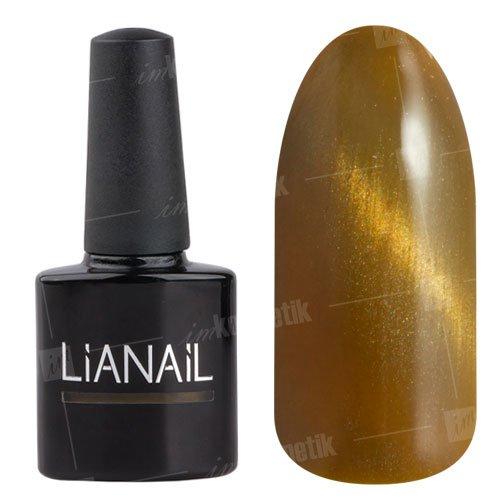 Lianail, Гель-лак эффект кошачий глаз - Огненный лев CESO-003 (10 мл.)Lianail<br>Гель-лаккошачий глаз, золотисто-желтый оттенок, плотный<br>