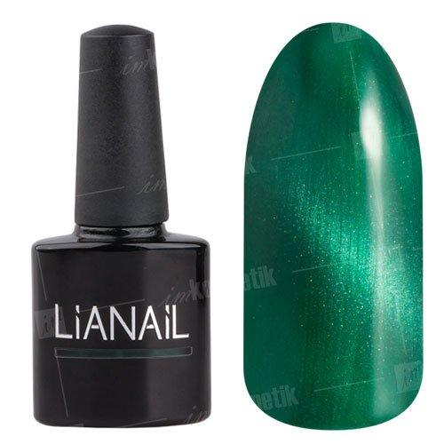 Lianail, Гель-лак эффект кошачий глаз - Мудрый тигр CESO-004 (10 мл.)Lianail<br>Гель-лаккошачий глаз, зеленыйоттенок, плотный<br>