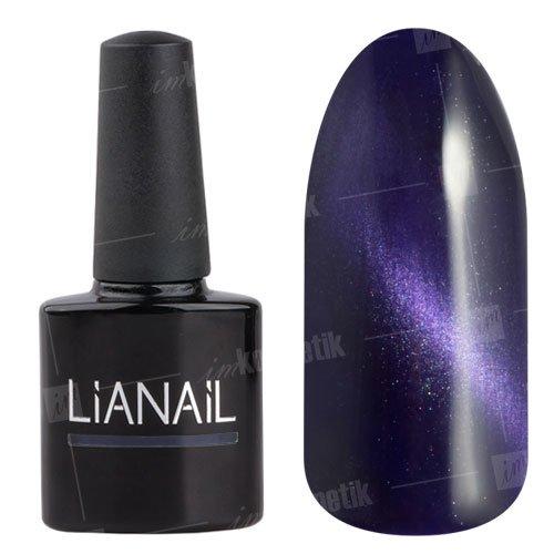 Lianail, Гель-лак эффект кошачий глаз - Ночная пантера CESO-006 (10 мл.)Lianail<br>Гель-лаккошачий глаз, таинственный черно-синий оттенок с фиолетовым подтоном, плотный<br>
