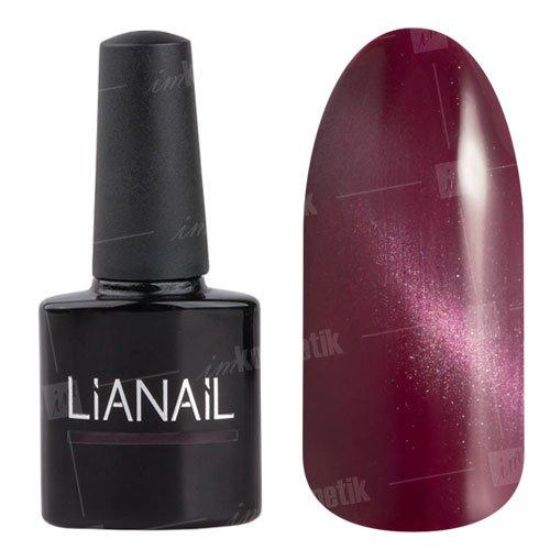 Lianail, Гель-лак эффект кошачий глаз - Экзотическая кошка CESO-009 (10 мл.)Lianail<br>Гель-лаккошачий глаз,бордово-фиолетовый (баклажановый), плотный<br>