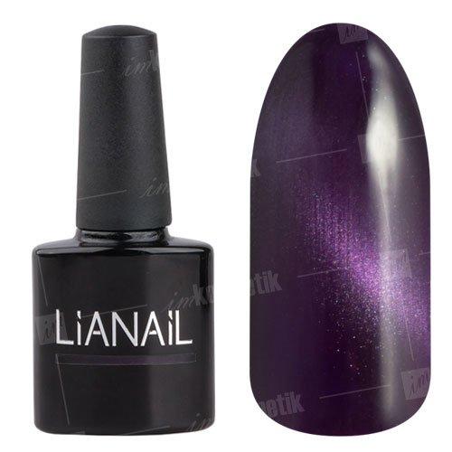 Lianail, Гель-лак эффект кошачий глаз - Маскарадная кошка CESO-010 (10 мл.)Lianail<br>Гель-лаккошачий глаз, фиолетовый, плотный<br>