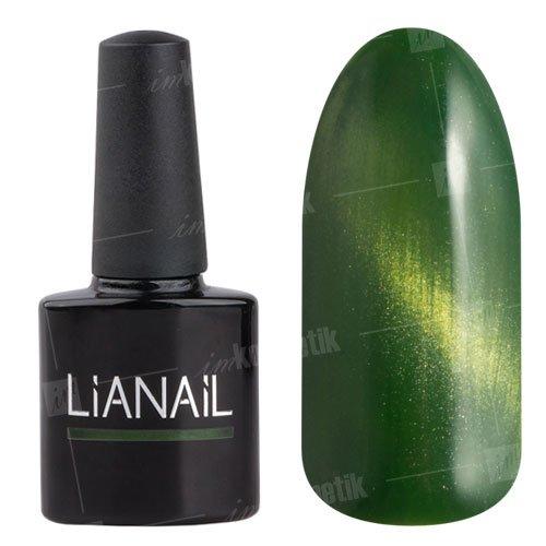 Lianail, Гель-лак эффект кошачий глаз - Лесная кошка CESO-012 (10 мл.)Lianail<br>Гель-лаккошачий глаз,зеленый, плотный<br>
