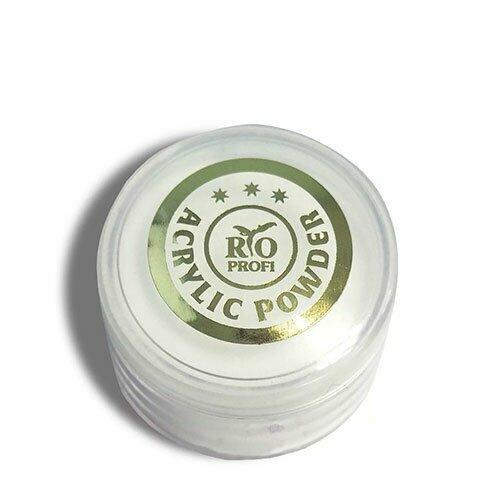 Rio Profi, Акриловая пудра белая (7 гр.)Акриловая пудра Rio Profi<br>Акриловая пудра белая<br>
