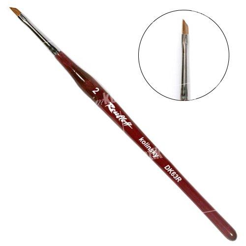 Roubloff, Кисть наклонная из волоса колонка №2 DK63RКисти для дизайна<br>Roubloff, Кисть наклонная из волоса колонка №2 DK63Rдля китайской росписи.<br>