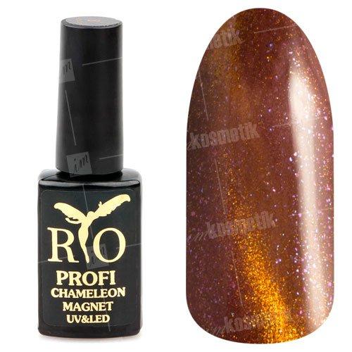Rio Profi, Гель-лак - Сияющий Магнитный Кошачий глаз №02 (7мл.)Rio Profi<br>Гель-лак Сияющий Магнитный гель лак, кирпично-бордовый, с кирпичным переливом, плотный<br>