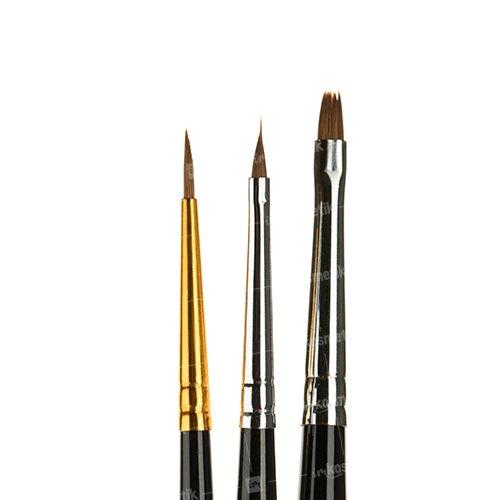 Roubloff, Набор - Акварель JB №2 (З шт.)Кисти для дизайна<br>Кисти для дизайна ногтей.<br>