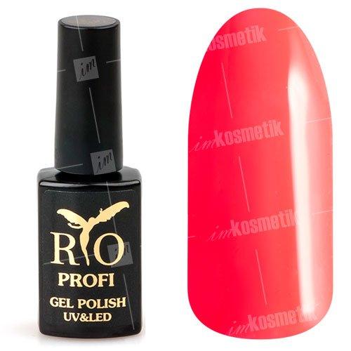 Rio Profi, Гель-лак каучуковый - Неоновый розовый №26 (7мл.)Rio Profi<br>Гель-лак каучуковый, неоновый розовый, глянцевый, плотный<br>