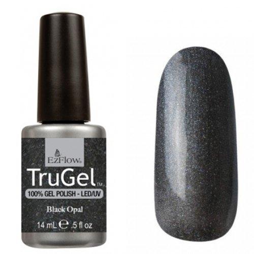 EzFlow TruGel 42264 - Black Opal 14 mlEzFlow TruGel<br>Эластичный растворяемый гелевый лак EzFlow TruGel, тенок мокрого асфальта с микроблеском.<br>