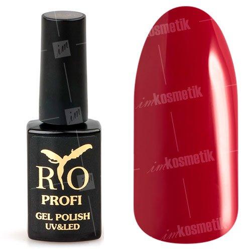 Rio Profi, Гель-лак каучуковый - Темно-красный №40 (7мл.)Rio Profi<br>Гель-лак каучуковый, темно-красный, глянцевый,плотный<br>