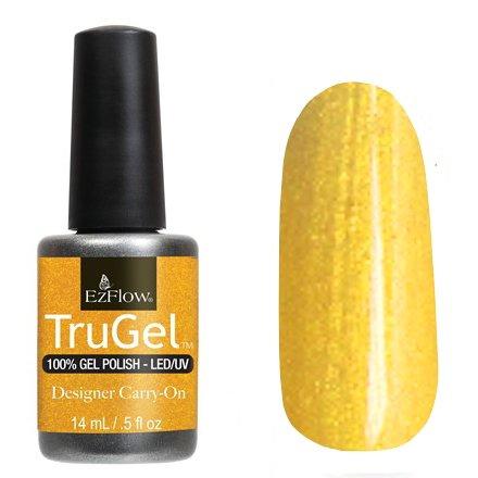 EzFlow TruGel 42323 - Designer Carry-On 14 mlEzFlow TruGel<br>Эластичный растворяемый гелевый лак EzFlow TruGel, золотой оттенок с микроблеском.<br>