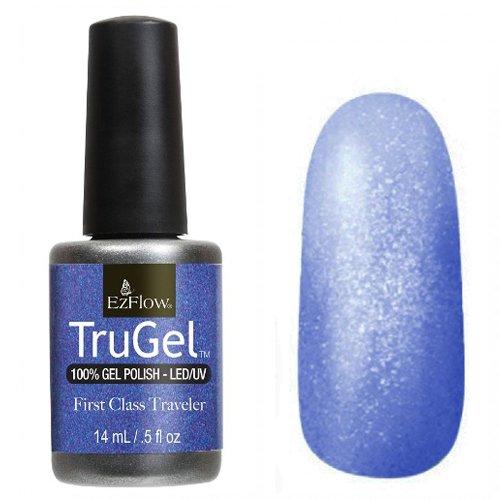 EzFlow TruGel 42326 - First Class Traveler 14 mlEzFlow TruGel<br>Эластичный растворяемый гелевый лак EzFlow TruGel, глубокий синий оттенокс микроблеском.<br>