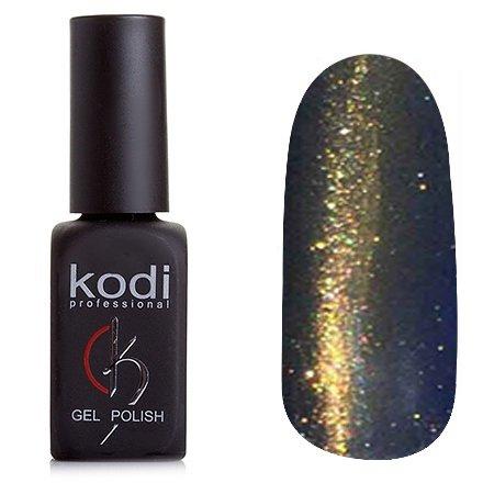 Kodi, Гель-лак Кошачий глаз № 818 (8ml)Kodi Professional <br>Магнитный гель-лак болотно-золотистого цвета с насыщенными голубыми блестками, плотный, 8мл.<br>