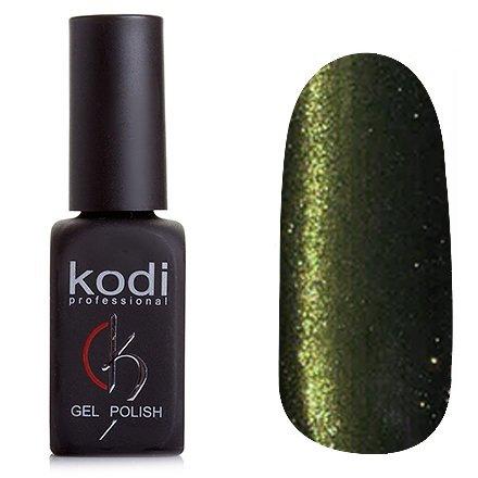 Kodi, Гель-лак Кошачий глаз № 819 (8ml)Kodi Professional <br>Магнитный гель-лак болотно-золотистого цвета с насыщенными бирюзовыми блестками, плотный, 8мл.<br>