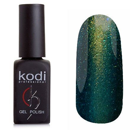 Kodi, Гель-лак Кошачий глаз № 824 (8ml)Kodi Professional <br>Магнитный гель-лак темно-зеленого цвета, плотный, 8мл.<br>