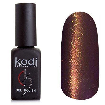 Kodi, Гель-лак Кошачий глаз № 827 (8ml)Kodi Professional <br>Магнитный гель-лак темно-коричневого фиолетового цвета, плотный, 8мл.<br>