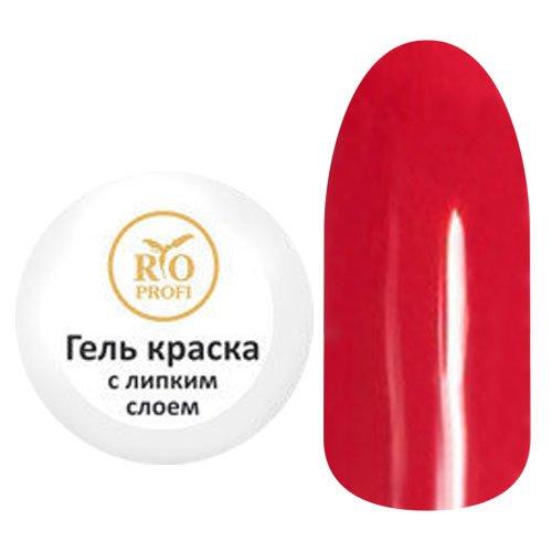 RIO Profi, Гель-краска с липким слоем - Красная №03 (7гр)Гель краски RIO Profi<br>Гель-краска с липким слоем, красная<br>