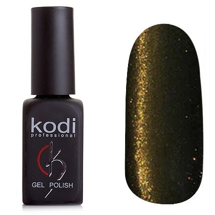 Kodi, Гель-лак Кошачий глаз № 830 (8ml)Kodi Professional <br>Магнитный гель-лак темно-болотного цвета, плотный, 8мл.<br>