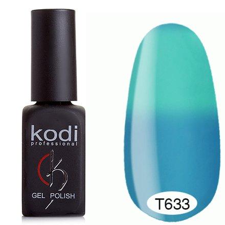 Kodi, Термо гель-лак № Т633 (8 ml)Kodi Professional <br>Гель-лакголубой/морская волна, без блесток и перламутра, плотный.<br>