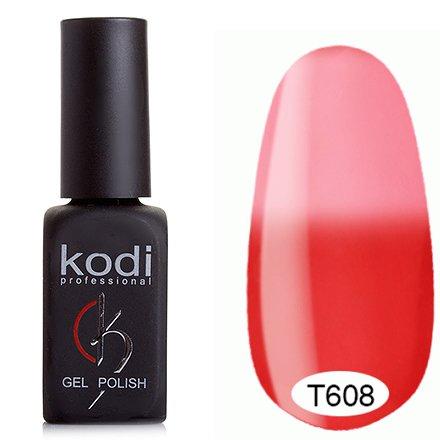 Kodi, Термо гель-лак № Т608 (8 ml)Kodi Professional <br>Гель-лаккрасно-малиновый/бледный малиновый, без блесток и перламутра, плотный.<br>