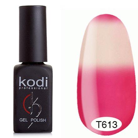 Kodi, Термо гель-лак № Т613 (8 ml)Kodi Professional <br>Гель-лак темный малиновый/белый, без блесток и перламутра, плотный.<br>