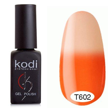 Kodi, Термо гель-лак № Т602 (8 ml)Kodi Professional <br>Гель-лак оранжевый/светло-оранжевый, без блесток и перламутра, плотный.<br>