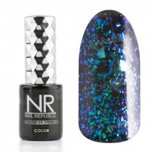 Nail Republic, Гель-лак - Galaxy green-blue №2 (10 мл.)