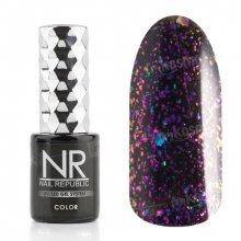 Nail Republic, Гель-лак - Galaxy purple №4 (10 мл.)