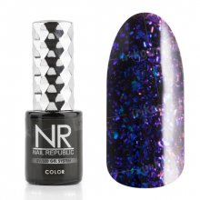 Nail Republic, Гель-лак - Galaxy blue-purple №5 (10 мл.)