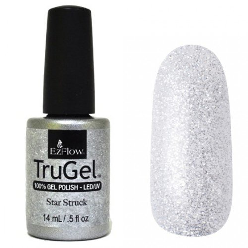 EzFlow TruGel 42437 - Star Struck 14 mlEzFlow TruGel<br>Эластичный растворяемый гелевый лак EzFlow TruGel,серебристые блестки.<br>