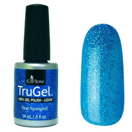 EzFlow TruGel 42442 - Star Spangled 14 mlEzFlow TruGel<br>Эластичный растворяемый гелевый лак EzFlow TruGel,синий с блестками.<br>
