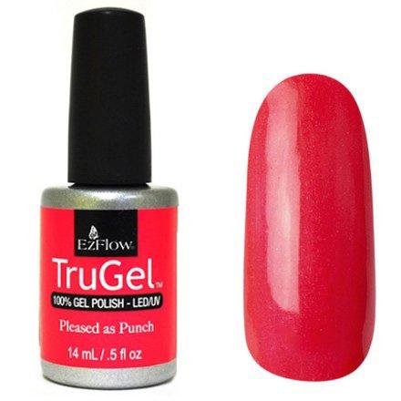 EzFlow TruGel 42454 - Pleased as Punch 14 mlEzFlow TruGel<br>Эластичный растворяемый гелевый лак EzFlow TruGel,красно-коралловый с розовым микроблеском.<br>