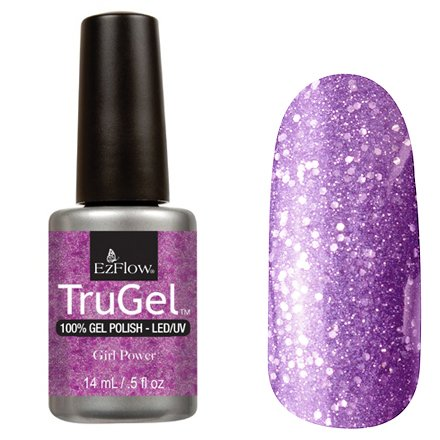 EzFlow TruGel 42476 - Girl Power 14 mlEzFlow TruGel<br>Эластичный растворяемый гелевый лак EzFlow TruGel, светло-фиолетовый, с крупными фиолетовыми блестками.<br>