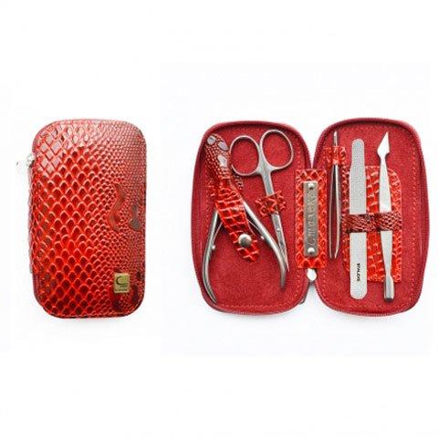 Staleks, Маникюрный набор «Змейка» НМ-01 (Бордовый)Инструменты для педикюра<br>Маникюрный набор «Змейка» НМ-01, цвет змея бордовая-2<br>