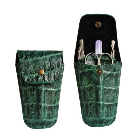 Staleks, Маникюрный набор «Карман» НМ-03 (Черепаха Зеленая)Инструменты для педикюра<br>Маникюрный набор «Карман» НМ-03 (Черепаха Зеленая - 66)<br>