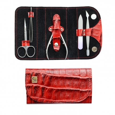Staleks, Маникюрный набор «Кошелек» НМ-02 (Черепаха Красная)Инструменты для педикюра<br>Маникюрный набор «Кошелек» НМ-02 (Черепаха Красная-08)<br>