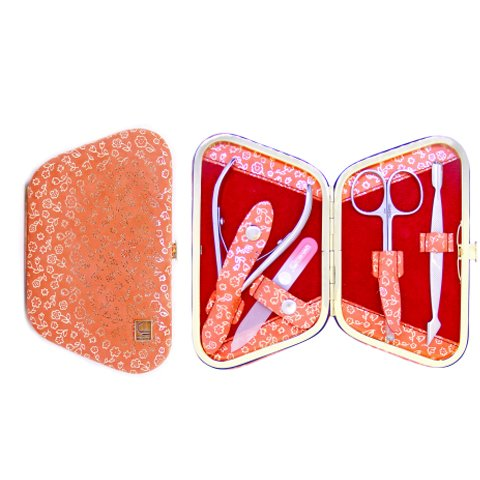 Staleks, Маникюрный набор - Рамка-трапеция НМ-04-4 (Персиковый Нубук)Маникюрные наборы<br>Маникюрный набор «Рамка-трапеция» НМ-04/4 (Персиковый Нубук-109)<br>