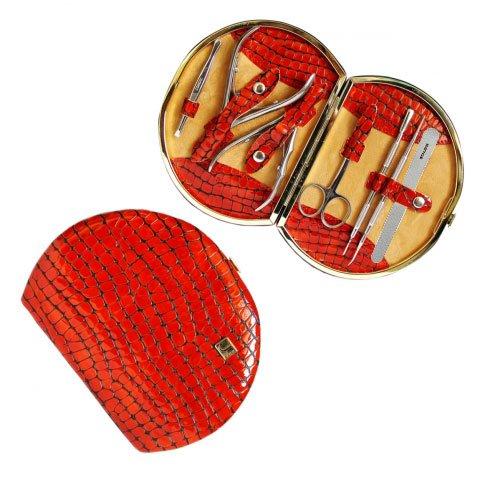 Staleks, Маникюрно-педикюрный набор «Рамка Профессиональная» НМ-07/1 (Питон Терракотовый)Инструменты для педикюра<br>Маникюрно-педикюрный набор «Рамка Профессиональная» НМ-07/1 (Питон Терракотовый-67)<br>