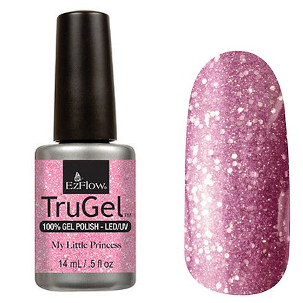 EzFlow TruGel 42477 - My Little Princess 14 mlEzFlow TruGel<br>Эластичный растворяемый гелевый лак EzFlow TruGel, светло-розовый, с розовыми блестками.<br>