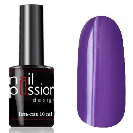 Nail Passion, Гель-лак - Спелый баклажан 1037 (10 мл.)Nail Passion<br>Гель-лак,фиолетово-сиреневый, эмалевый, плотный<br>