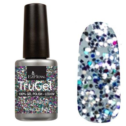 EzFlow TruGel 42478 - Lets Celebrate 14 mlEzFlow TruGel<br>Эластичный растворяемый гелевый лак EzFlow TruGel, прозрачный с крупными разноцветными блестками.<br>
