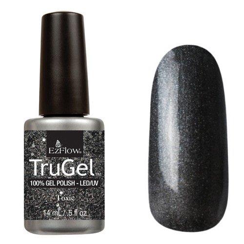 EzFlow TruGel 42480 - Toxic 14 mlEzFlow TruGel<br>Эластичный растворяемый гелевый лак EzFlow TruGel, графитовый серебряный с блестками.<br>