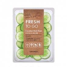 TONY MOLY, Fresh To Go Mask Sheet Cucumber - Тканевая маска для лица с экстрактом огурца (22 гр.)