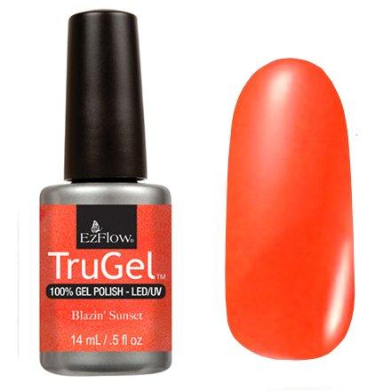 EzFlow TruGel 42486 - Blazin Sunset 14 mlEzFlow TruGel<br>Эластичный растворяемый гелевый лак EzFlow TruGel, эмалевый оранжевый оттенок.<br>