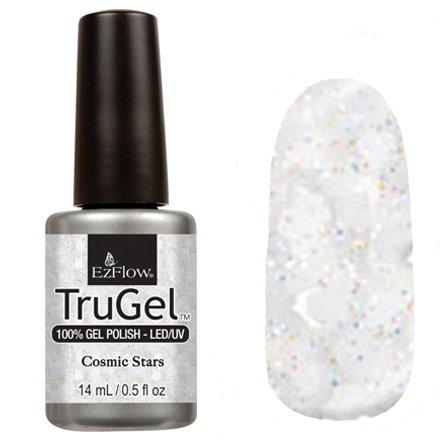 EzFlow TruGel 42527 - Cosmic Stars 14 mlEzFlow TruGel<br>Эластичный растворяемый гелевый лак EzFlow TruGel, разноцветные блестки с белой слюдой.<br>