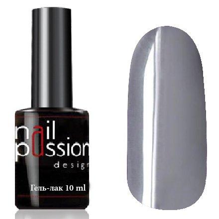 Nail Passion, Гель-лак - Маренго 1045 (10 мл.)Nail Passion<br>Гель-лак,светло-серый, эмалевый, плотный<br>