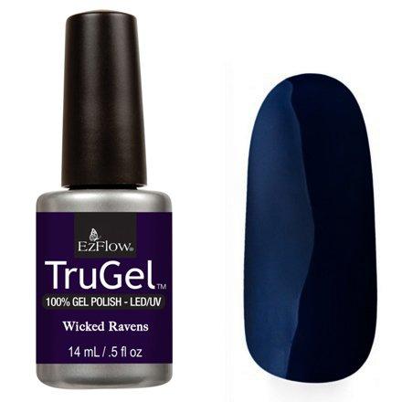 EzFlow TruGel 42555 - Wicked Ravens 14 mlEzFlow TruGel<br>Эластичный растворяемый гелевый лак EzFlow TruGel, глубокий черно-синий оттенок.<br>