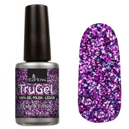 EzFlow TruGel 42336 - Fame &amp; Fortune 14 mlEzFlow TruGel<br>Эластичный растворяемый гелевый лак EzFlow TruGel, фиолетовое конфетти.<br>